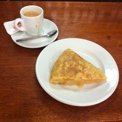 Cafe & spanish tortilla